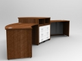 Image 326A - Aero reception desk with a high centre signing counter showing the pedestal storage drawer units to the rear.