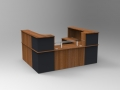Image 29C - Single Classic reception desk finished in Walnut and Graphite Grey