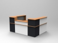Image 18C- Single Classic reception desk in 3 finishes Beech, White & Graphite