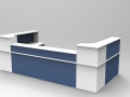 Image 15C- White & Steel Blue Classic reception desk