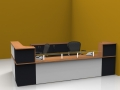 Image 14C Classic reception desk finished in Beech, White and Graphite Grey
