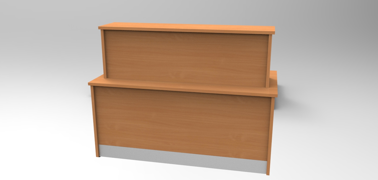 Image Image 21F - Small Flex Bespoke Veterinary reception desk Maple