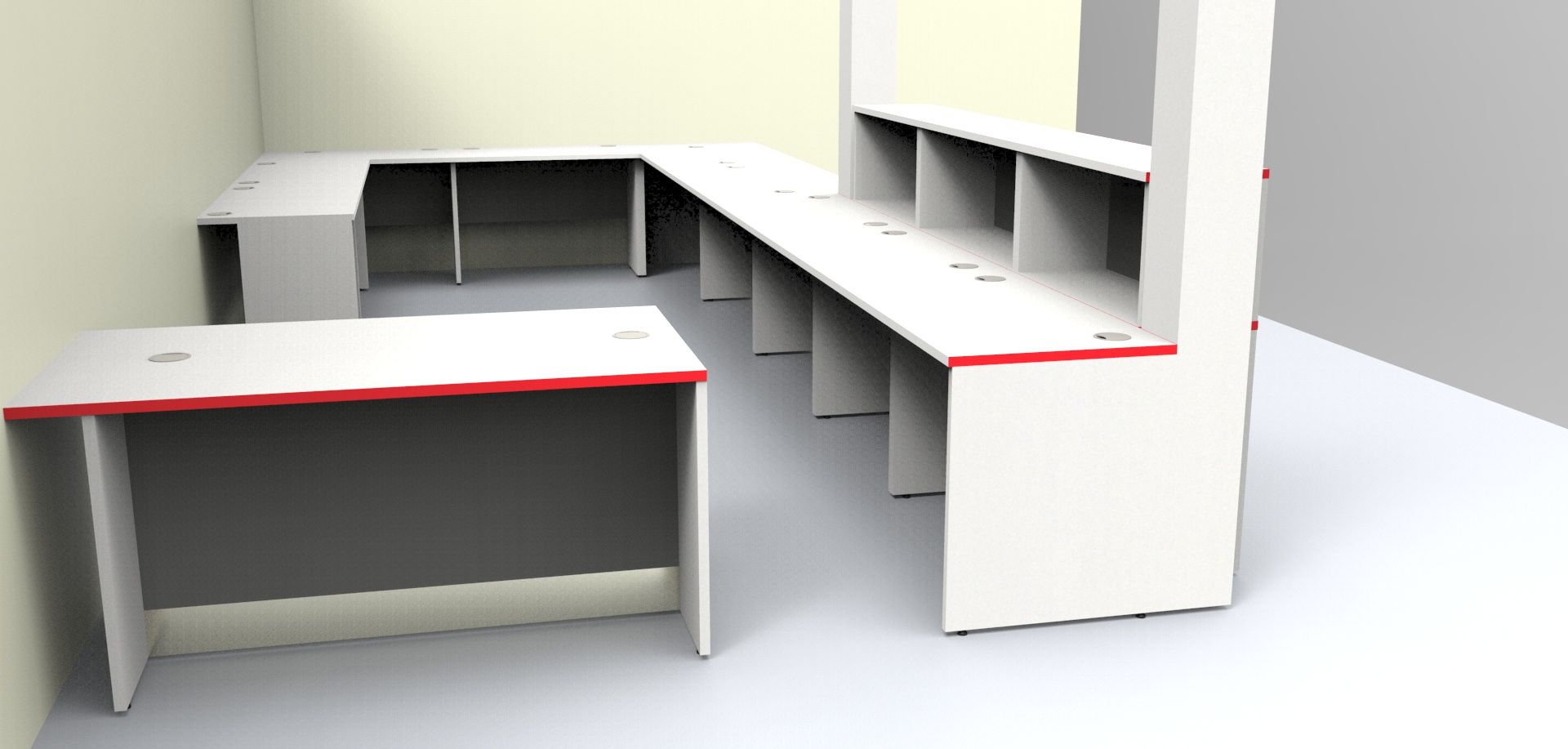 Image 39F/B -Large Bespoke reception desk