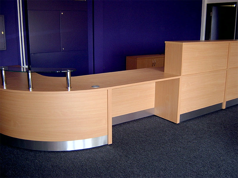 Image 59F/2 - Bespoke school Flex reception desk  - DDA -front view