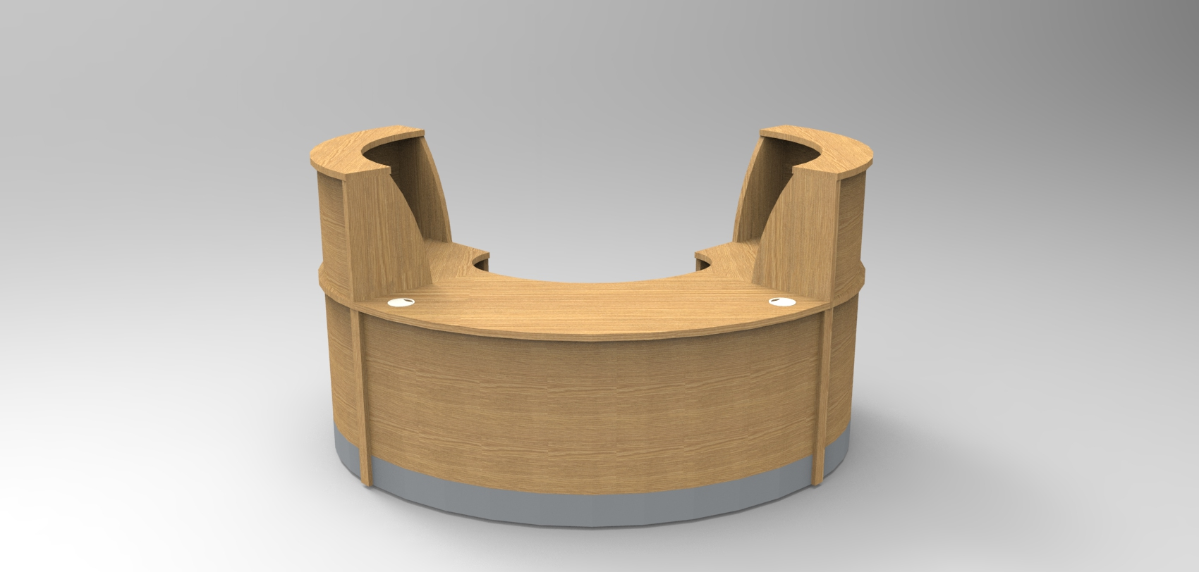 Image 26F/SP - Flex Small Oak Polo reception desk  (2166mm wide x 1483mm deep)