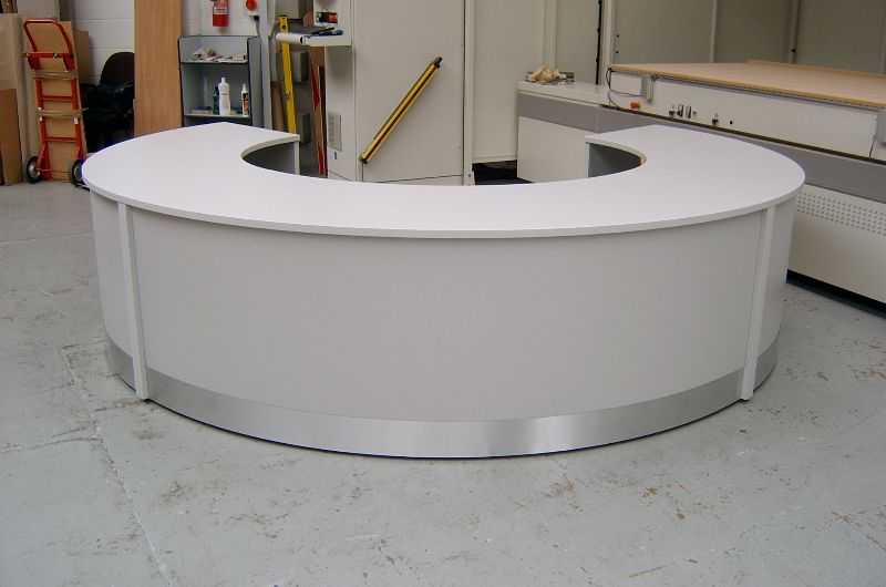 Image 47F - Flex Curved reception desk , Light Grey