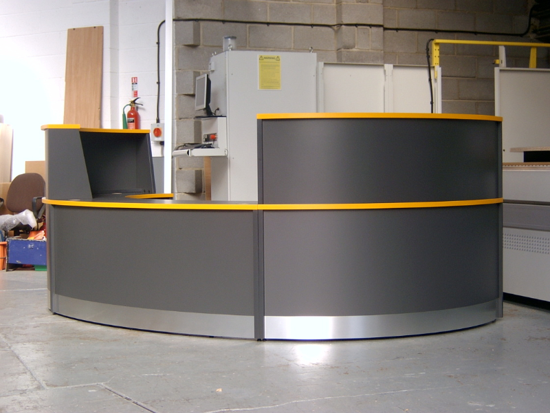 Image 11F - Flex Bespoke veterinary surgery reception desk - Graphite Grey