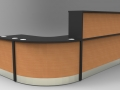 Image 14F - Flex standard Black & Beech reception desk