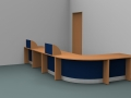 Render-Bespoke Flex reception desk - corner view
