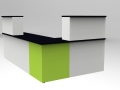 Render -Bespoke Classic reception desk Black/White/Green