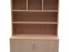 storage cupboard with shelving and pigeon hole storage