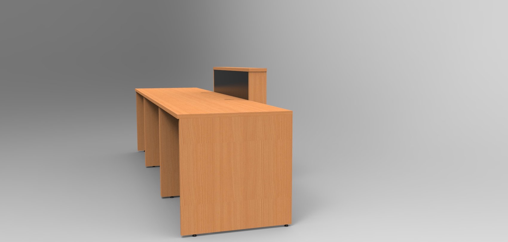 Image 12UC - DDA Union reception desk finished in Beech and Black