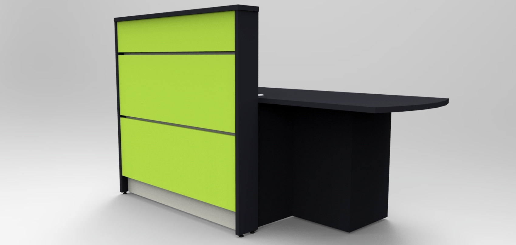 Union Compact- Green and Dark Grey