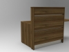 Image 3UB -Tall Union compact reception desk finished in Walnut tall side