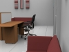 Image 1UA- Tall Union compact reception desk finished in Beech and White